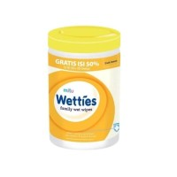 Mitu Wetties Family Wet Wipes Fresh Lemon (90 Lembar) Original 100%
