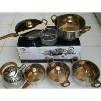 Oxone Panci / Eco Cookware Set 12+2 Pcs OX-933 OX933 OX 933