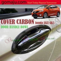 DOOR HANDLE BOWL HONDA JAZZ GK5 COVER CARBON HANDLE PINTU LUAR JAZZ