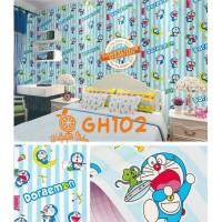 Home Wallpaper Sticker Dinding Doraemon Salur - 45cm x 10 m