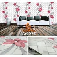 Home Wallpaper Sticker Dinding Ketupat Merah - 45cm x 10 m