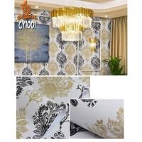 Home Wallpaper Sticker Dinding Batik Lemon - 45cm x 10 m