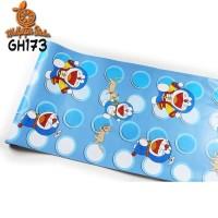Home Wallpaper Sticker Dinding Doraemon Polkadot - 45cm x 10 m