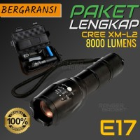 PAKET SENTER SWAT MINI LED CREE XM-L2 E17 - SENTER / SENTER SWAT