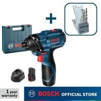 Bosch Obeng Impact Baterai dengan Mata Bor Besi HSS-G GDR 120-LI GEN3