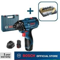Bosch Obeng Impact Baterai dengan Mata Obeng Set 27pcs GDR 120-LI GEN3
