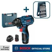 Bosch Obeng Impact Baterai dengan Mata Obeng Set 25pcs GDR 120-LI GEN3