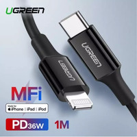UGREEN Kabel MFI Lightning to USB Type C PD 36W Fast Charging iPhone X