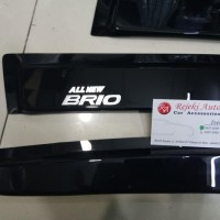 Talang Air Side Visor All New Brio 2018 Slim Black Best Product