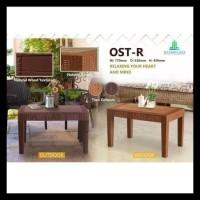 Meja Tamu/ Meja Sofa/ Meja Teras Plastik Anyaman Rotan Olymplast Ost-R