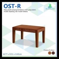 Meja Tera/Tamu/Sofa Plastik Anyaman Rotan Kode 463