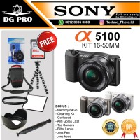 SONY ALPHA A5100 KIT 16-50MM GARANSI RESMI - SONY MIRRORLESS A5100 KIT