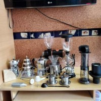 Paket kedai kopi lengkap. Coffee maker set cafe. Paket alat kopi