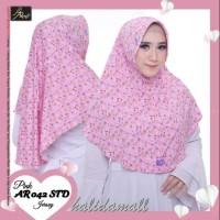 Hijab arrafi ar 042 std motif jilbab bergo serut instan