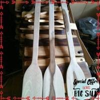 Terlaris Sutil kayu wooden spatula alat penggorengan teflon dapur