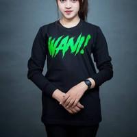 Kaos Baju Combed 30S Distro WANi polos custom LENGAN PANJANG PERSEBAYA