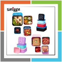 DA236 Smiggle Happy 4 In 1 Nested Lunchbox Set