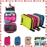 Murah Travel matte / Travel toiletris pouch tas gantung kosmetik