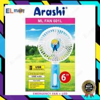 Kipas angin cas portable ARASHI ML fan 601L / mini fan jumbo 6inch
