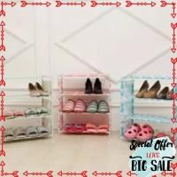 Promo Rak sepatu Flamingo Bear susun 4 susun 3 ruang serbaguna buku