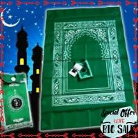 Terlaris Pocket prayer mat Sajadah kompas saku musafir traveling Keren