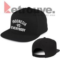 Topi SNAPBACK HAT CAP iNDONESiA VS EVERYBODY polos custom EVERY BODY