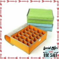 Grosir Storage box underware 24 sekat / grid Elegan