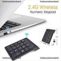 Keyboard Numerik Wireless 18 Tombol Warna Hitam Bahan ABS untuk