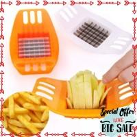 Murah Potato Slicer pisau kentang chopper french fries pemotong kotak