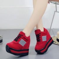 PROMO Sepatu Sneakers Wedges Casual Bahan Kanvas Gaya Korea