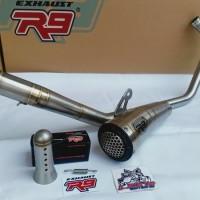 Knalpot R9 GP SS ORIGINAL Honda CBR 150 K46 Facelift - All New CB150