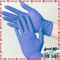 Promo Sarung Tangan Latex / Karet warna biru /ungu Kebersihan tangan