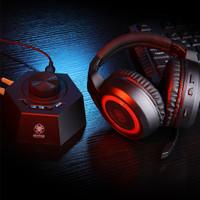 PLEXTONE G600 gaming headset + GS5 USB 7.1 surround sound - Merah