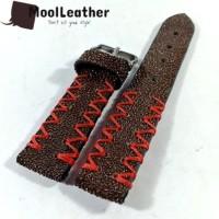 Tali strap jam tangan asli kulit ikan pari duri warna Coklat