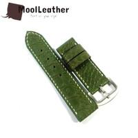 Strap tali jam tangan pria asli kulit sapi motif croco size 24mm