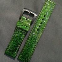 Strap Tali Jam Tangan Kulit Buaya Green Hulk
