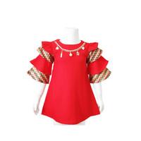 Dress Anak Perempuan Carlene - Ruffle dan Bermotif