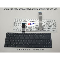 Keyboard Asus K55 K55A K55DR K55VD K55VM K55XI X55 X75 - Black