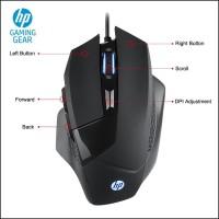TERPERCAYA HP Mouse Gaming G200 (Rainbow) - 4000 DPI GARANSI RESMI 1