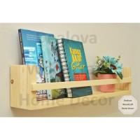 Rak Bumbu Buku Gantung Minimalis Kayu Pinus Jati Belanda