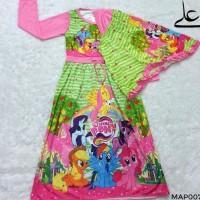 Baju Muslim Gamis Anak Perempuan 4 5 6 7 Tahun MAP007 - 4 Tahun