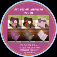 Jual DVD desain Undangan Pernikahan Vol 01-03 Murah