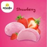 Mochi Ice Cream Miwaku Strawberry (isi 3pcs)