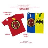 Kaos Usap Superhero Anak Cowok Laki-Laki 2-7 Tahun