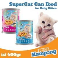 Makanan bayi kucing Supercat Baby Kitten 400gr kaleng