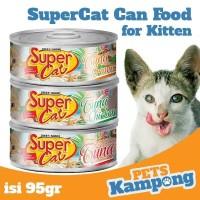 Makanan kucing kecil Supercat Kitten 95gr kucing kaleng