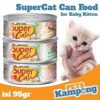 Makanan kucing bayi Supercat Baby Kitten 95gr kucing kaleng