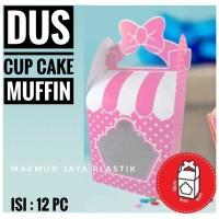 [ DUS MUFFIN PITA ] PAPER BOX CUP MUFFIN CAKE MOTIF ISI 12 PC