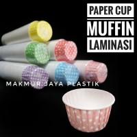[ CUP MUFFIN POLKADOT ] LAMINASI CUP MUFFIN MOTIF POLKADOT ISI 100 PC
