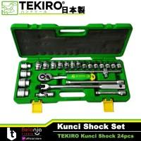 Tekiro Kunci SHOCK Set 8 - 32 mm 1/2 HAND Socket 24 Pcs 6 PT 8-32mm